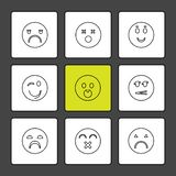 Emoji, émoticônes, eomtions, smiley, icônes d'ENV a placé le vecteur illustration libre de droits