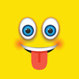 Emoji γλωσσών έξω Στοκ εικόνα με δικαίωμα ελεύθερης χρήσης