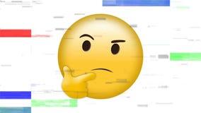 Emoji προσώπου σκέψης απόθεμα βίντεο