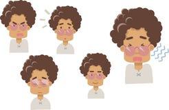 Emoji бабушки на белой предпосылке иллюстрация вектора