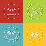 Emoji, значки смайликов иллюстрация штока