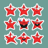 Emoji играет главные роли значки Стикеры Emoji Стоковое Изображение RF