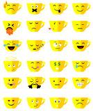 Emoji чашки чая Стоковое Изображение