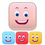 Emoji affronta Emoticon sorridente Insieme sveglio di Smiley Colorful illustrazione di stock