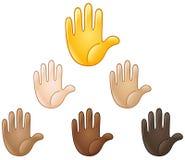 Emoji aumentado da mão Imagens de Stock Royalty Free