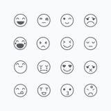 Emoji avatar collection set, emoticons isolated icons flat line Stock Image