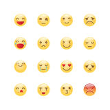 Emoji avatar collection set, emoticons isolated icons flat line Stock Photography