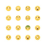 Emoji avatar collection set, emoticons isolated icons flat line Royalty Free Stock Photography