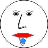 Emoji avec le comprimé de pression photographie stock