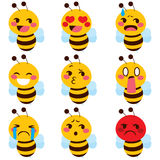 Emoji bonito da abelha ilustração do vetor