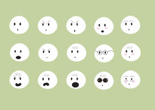 Emoji bonito das caras Imagens de Stock Royalty Free
