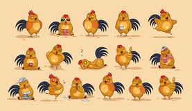 Emoji character cartoon Cock Royalty Free Stock Photos