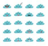 Emoji chmurnieje wektor Zdjęcia Stock