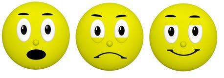 Emoji-Clipart Stockbild