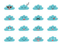 Emoji clouds vector. Stock Photography