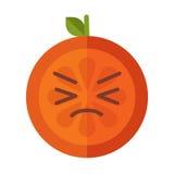 Emoji - crying orange. Isolated vector. Royalty Free Stock Image