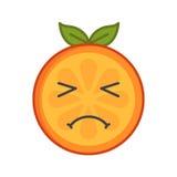 Emoji - crying orange. Isolated vector. Royalty Free Stock Photos