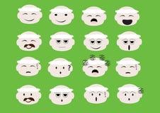 Emoji da cara do indivíduo Imagem de Stock