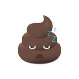 Emoji da merda Emoticon de Poo Cara do tombadilho isolada Ilustração do Vetor