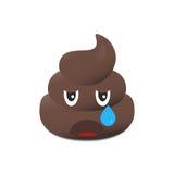 Emoji da merda Emoticon de Poo Cara do tombadilho isolada Ilustração Royalty Free