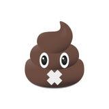 Emoji da merda Emoticon de Poo Cara do tombadilho isolada Foto de Stock Royalty Free