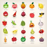 Emoji de fruits et légumes Photo stock