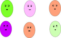 Emoji de la historieta Imagenes de archivo