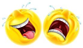 Emoji de la tragedia de la comedia del teatro stock de ilustración