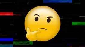 Emoji de pensamento amarelo da cara ilustração royalty free