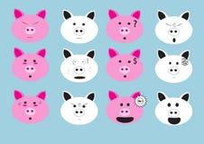 Emoji del fronte del maiale immagine stock libera da diritti