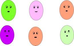 Emoji del fumetto Immagini Stock