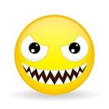 Emoji del monstruo Emoción de la risa Emoticon de la recortadora de chapas Imagenes de archivo