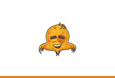 Emoji del pájaro relajado libre illustration