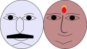 Emoji delle coppie immagine stock