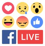 Emoji di Facebook come amore in tensione illustrazione vettoriale