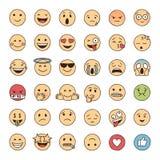 Emoji dibujado mano del garabato fotos de archivo libres de regalías