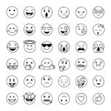 Emoji dibujado mano del garabato imagen de archivo libre de regalías