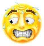 Emoji effrayé d'émoticône illustration stock