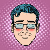 Emoji embarrassment shame man face icon symbol. Pop art retro style Stock Images