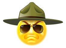 Emoji-Emoticon-Ausbildungsunteroffizier Stockbild