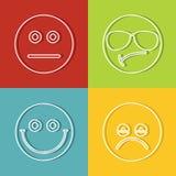Emoji, emoticons pictogrammen stock illustratie