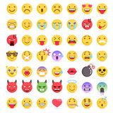 Emoji emoticons symbols icons set. Vector Illustrations Stock Photography
