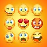 Emoji en droevige pictogramreeks inzameling royalty-vrije illustratie