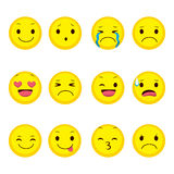 Emoji Expression Collection Royalty Free Stock Images