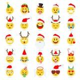 Emoji för julEmoticonvektor Royaltyfria Foton
