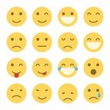 Emoji fait face à des icônes Photos libres de droits