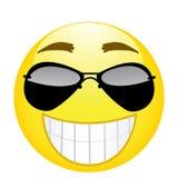 Emoji felice Forte emozione Icona di sorriso dell'illustrazione di vettore Fotografia Stock Libera da Diritti