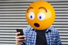 Emoji głowy mężczyzna Obraz Royalty Free