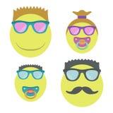 Emoji homossexual da família com duas crianças Fotografia de Stock Royalty Free