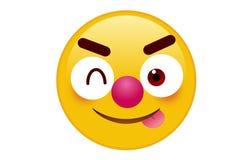 Emoji icon. Emoticon with happy eyes in trendy flat style icon on white background stock illustration